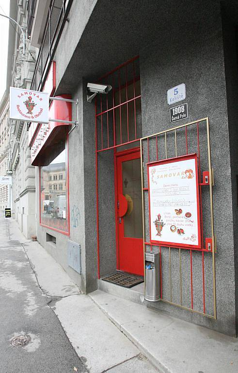 Ruská restaurace Samovar v Brně.