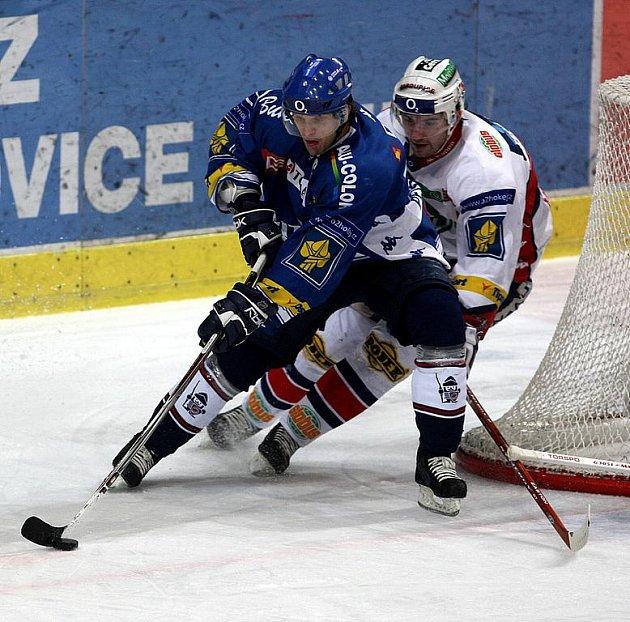 Hokejista Róbert Petrovický (vlevo)