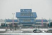 Nákupní centrum Olympia v zimě. Ilustrační foto.