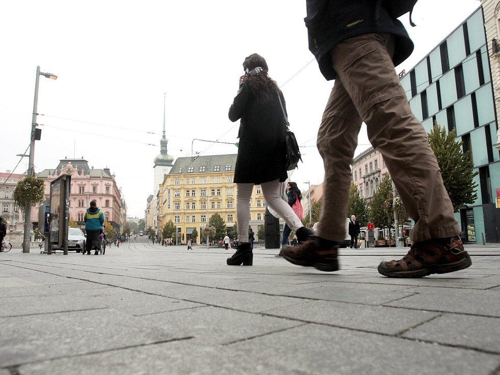 Brněnské náměstí Svobody.