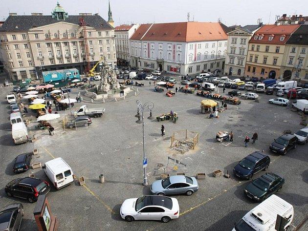 Zelný trh v Brně.