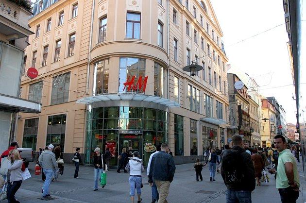 Pohled na ulici Česká dnes