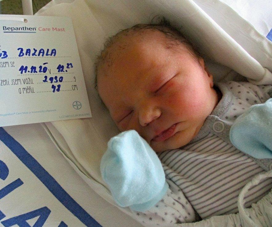 Jakub Bazala, 11. 11. 2020, Zaječí, 2930 g, 48 cm, Nemocnice Břeclav