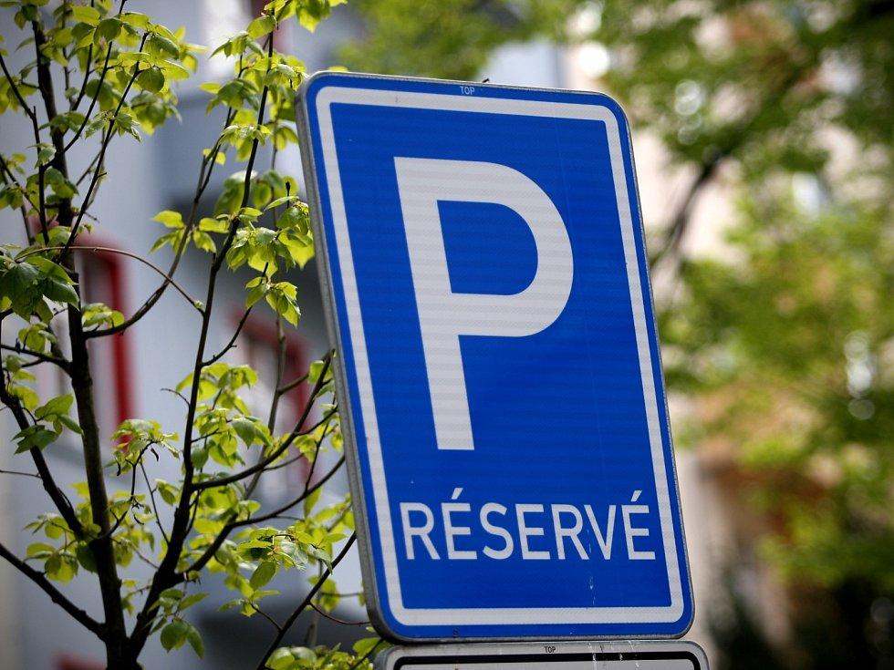 Parkování v Brně.