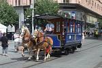 Dny dopravní nostalgie v Brně završila v sobotu přehlídka historických vozů městské hromadné dopravy na náměstí Svobody.