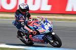 Vítěz kvalifikace Moto 3 Jakub Kornfeil