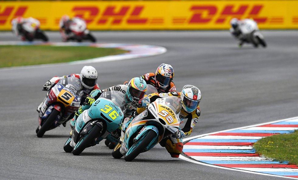 Monster Energy Grand Prix České republiky 2017, Moto 3 - vedoucí skupina, 5 Romano Fenati, 36 Joan Mir a 58 Juanfran Guevara.