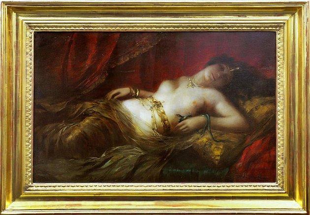 Obraz chorvatského malíře Vlaha Bukovace s názvem Kleopatra byl vydražen za vyvolávací cenu 1,6 milionu korun.