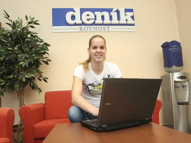 Basketbalistka Alena Hanušová při online rozhovoru v Deníku Rovnost.