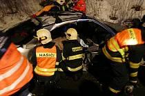 Dopravní nehoda v brněnském Komíně.