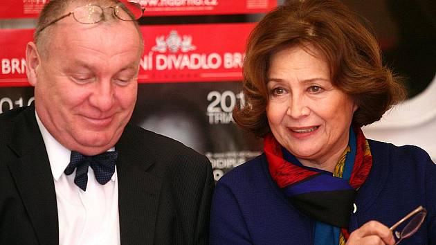Daniel Dvořák a Emilia Vašáryová.
