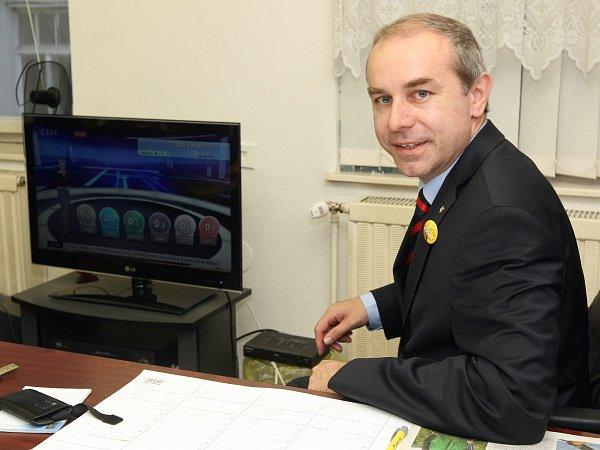 Volební štáb KDU-ČSL - Jiří Mihola.