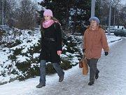 Úpravy chodníku v Pražské ulici v Písku