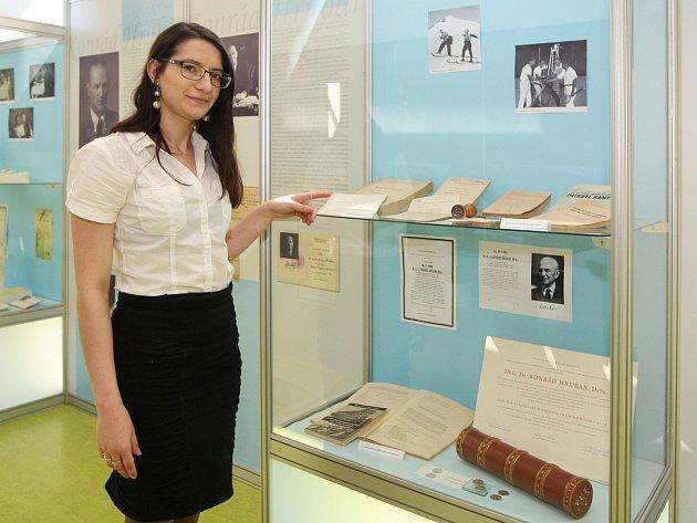 Výstava o Konrádu Hrubanovi.
