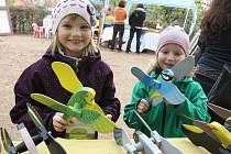 Děti se v sobotu pod Špilberkem dozvěděly něco o vodě a ekologii.