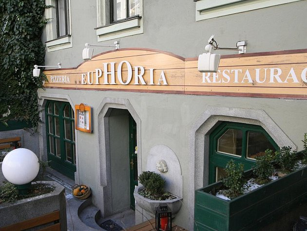 Restaurace Euphoria v Merhautově ulici v Brně.