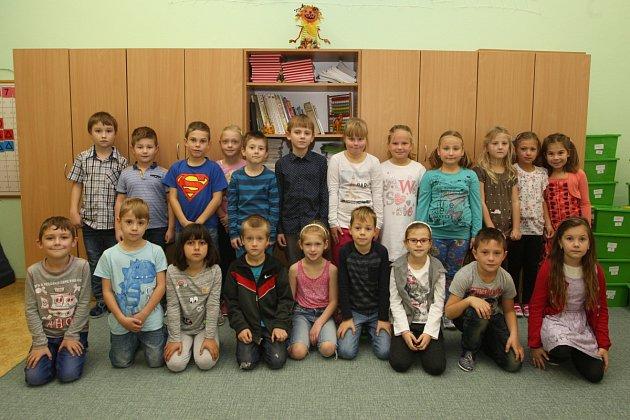 Žáci 1.B ze ZŠ T. G. Masaryka vulici Na Brněnce Ivančicích.