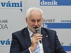 Panelová diskuze Deníku v brněnském Vida centru s hejtmanem Jihomoravského kraje Bohumilem Šimkem