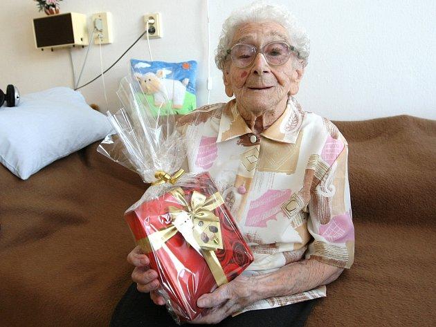 Bedřiška Kohlerová oslavila své sto šesté narozeniny.