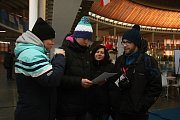 Zóna Deníku na Olympijském parku v Brně je plná eskymaček a vstřícných redaktorů, kteří návštěvníkům rádi nabídou kávu, nebo je vyfotí ve fotokoutku.