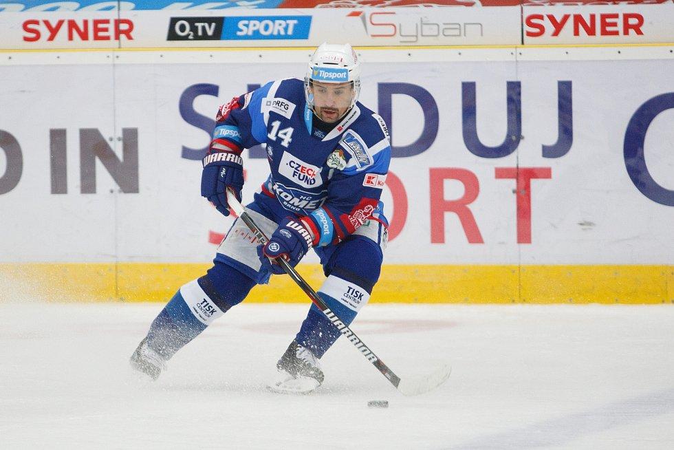 36. kolo extraligy ledního hokeje mezi Bílí Tygři Liberec a HC Kometa Brno. Na snímku Tomáš Plekanec