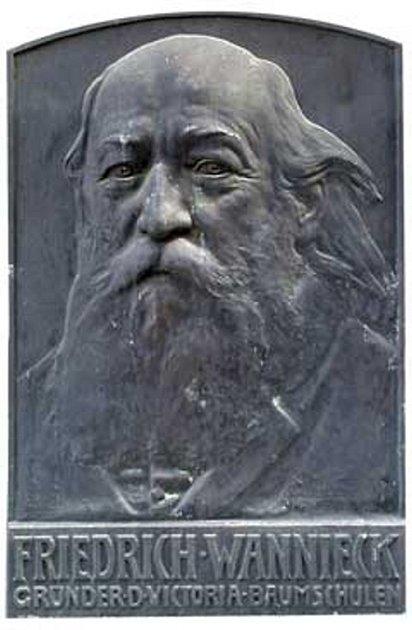 Brněnský továrník a vynálezce Friedrich Wannieck.