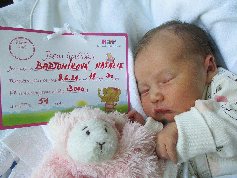 Natálie Bartoníková, 8. června 2021, Hodonín, Nemocnice Břeclav, 3000 g, 51 cm