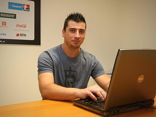 Tomáš Kaberle z brněnské Komety při online rozhovoru.