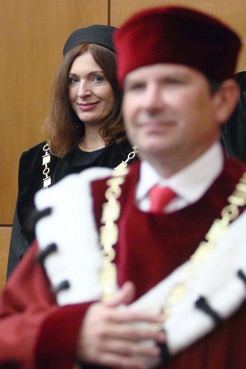 Inaugurace rektora na brněnské Masarykově univerzitě.