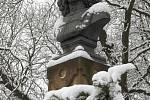 Sněhová nadílka v Brně.