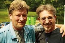 Pořadatel Rockových sadů Jan Zmrzlý (vlevo).