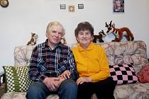 MANŽELÉ Jiráskovi oslavili v sobotu 16. ledna šedesátiletou, diamantovou svatbu.