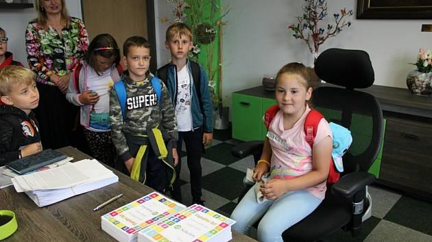 Návštěva žáků na radnici.