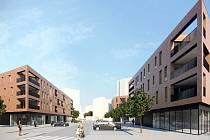 Proměna chodovského náměstíÍ. Na snímku studie nové výstavby na náměstí ČSM.