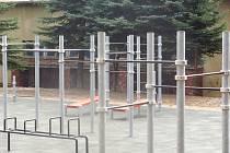 Nové hřiště pro street workout v Habartově.