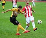 Utkání 7. kola Fortuna národní ligy Baník Sokolov - Viktoria Žižkov 1:0
