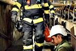 Cvičení v elektrárně v Tisové.