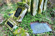 LESNÍ HŘBITOVY připomínají dnes už jen povalené náhrobky a kříže. Na jaře se začne s jejich restaurováním.