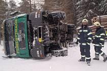Nehoda tahače u Rotavy.