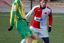 Vynikající výkon na levé straně zálohy proti Slavii podal Petr Mach.