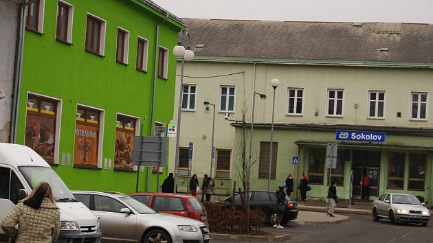 Nádražní ulice v Sokolově
