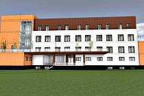 Vizualizace pobytového zařízení pro seniory v Sokolově.