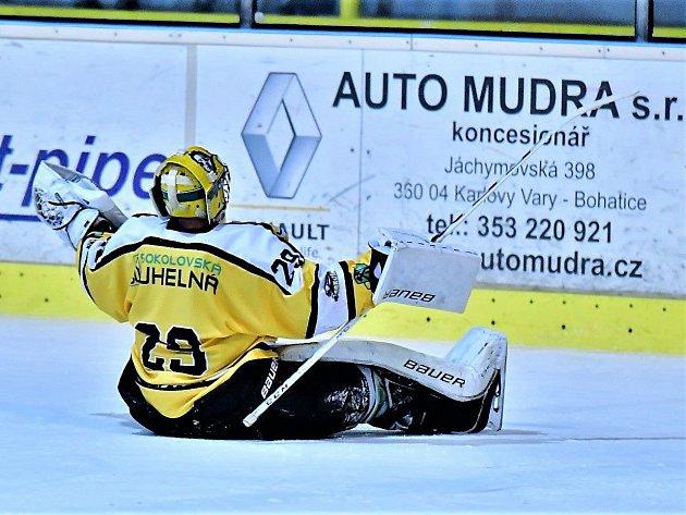 Hokejový Baník v akci.