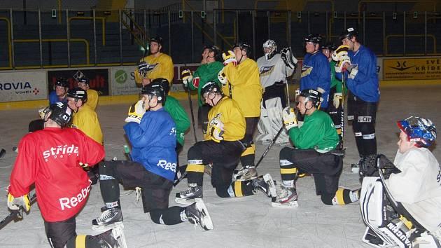 Trénink sokolovských hokejistů