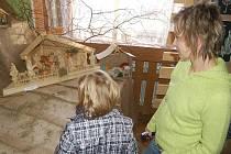 Na výstavě v Horním Slavkově obdivovali návštěvníci v sobotu betlémy z cukru, perníku, bavlny, dřeva nebo keramiky.