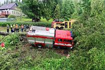 Nehoda rotavských hasičů
