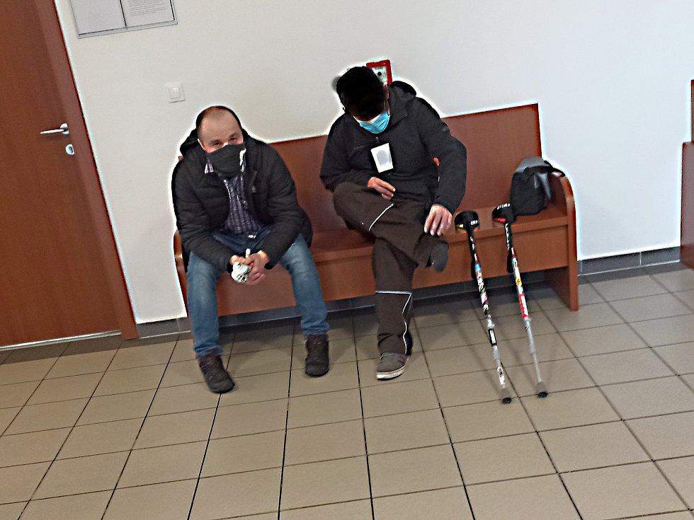 Soudní jednání s obžalovaným Petrem H. (vlevo)