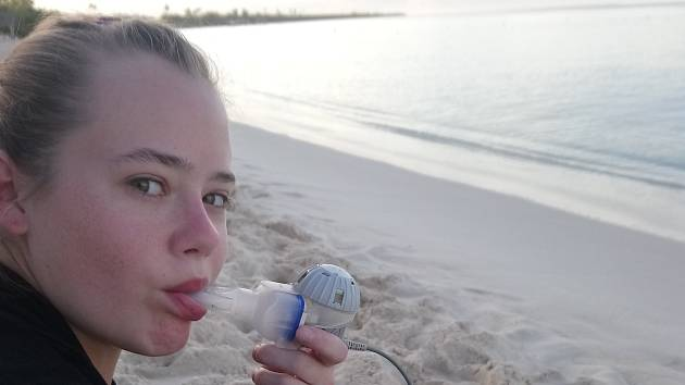 Daniela rehabilituje u moře.