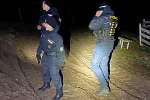 Policisté při hledání pohřešovaného muže