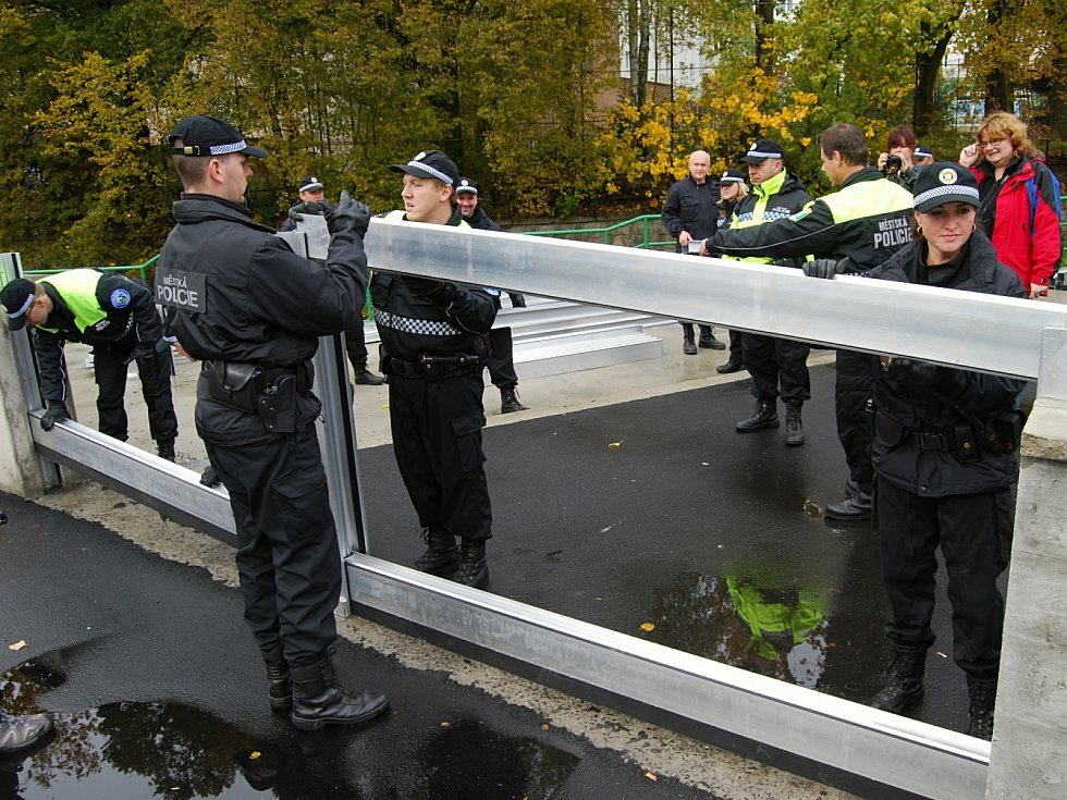 Nácvik stavby protipovodňových zábran v Sokolově